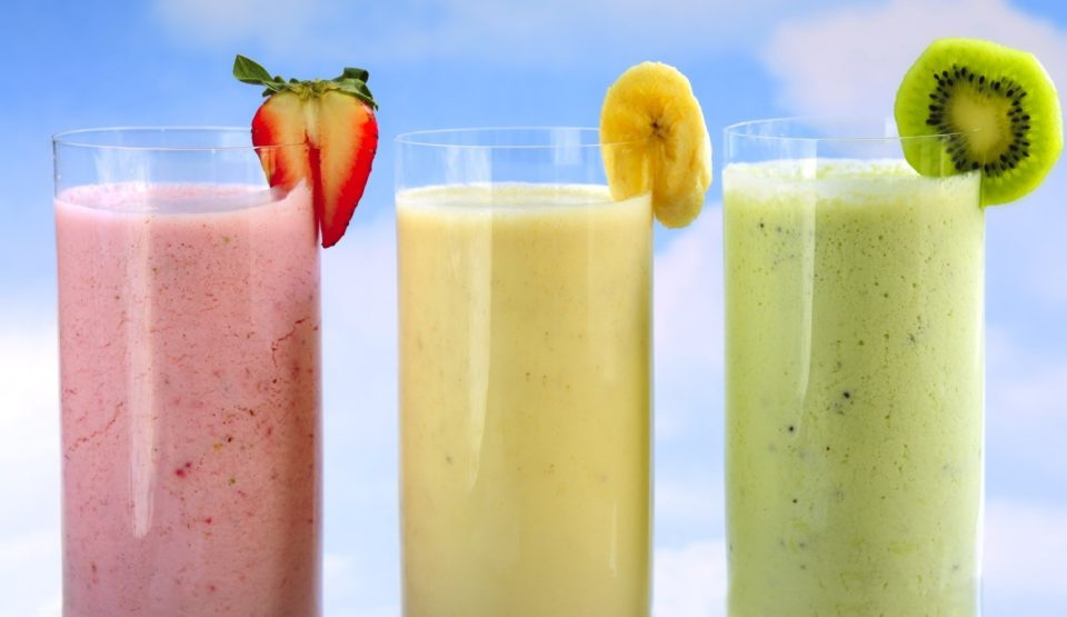 Assorted fruit & berry smoothies #DrinkYourPrenatals